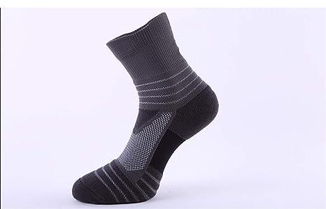 SUxian Calcetines de Baloncesto Acolchados para Hombre Calcetines de Toalla Terry Calcetines de algodón Calcetines de