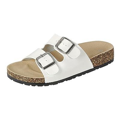 Cambridge Select Women's Open Toe 2 Strap Buckle Slip-on Flat Slide Sandal