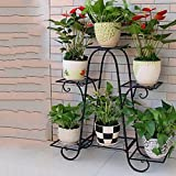 ZPMZ- Wrought Iron Flower Shelf six-Layer 73cm Floor Balcony Pot Rack Shelf Floor Living Room Indoor Flowerpot Rack Simple Hanging Orchid Stand Plants Display Rack (Color : Black)