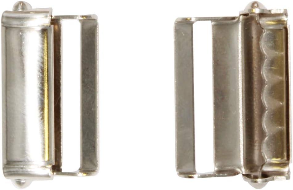 WedDecor 25mm X 27mm M/étal R/églable Slider Ceinture Boucles pour Fermeture Sangles Ceintures Sacs Porte-Monnaie Bagage Sangles Connecteur 10pcs Argent Argent