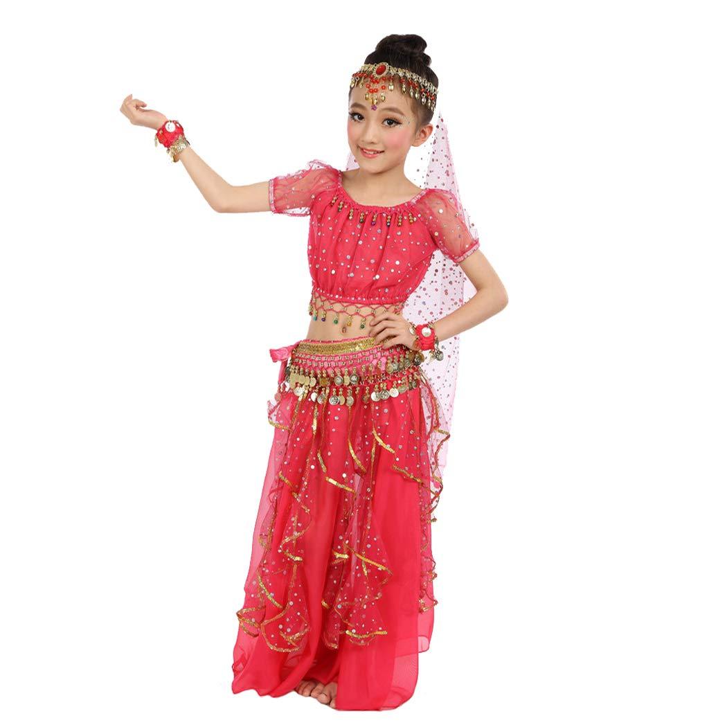 efe5e9392 Amazon.com: Maylong Girls Arabian Princess Dress up Belly Dance Outfit  Halloween Costume: Clothing