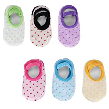 Amazon.com: 6 pares Bebé Antideslizante Calcetines y de ...