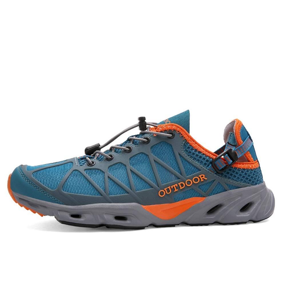 Jincosua up Mens Lace up Jincosua Sommer Wanderschuhe weiche Sohle atmungsaktiv Quick Dry Outdoor Trainer (Farbe   Blau, Größe   EU 44) ca1ca7