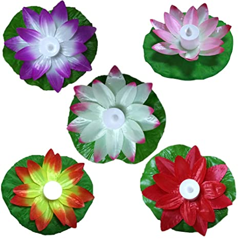 de luz la LED de la Loto la lámpara Creativa Flor de de LMVpSzUqG