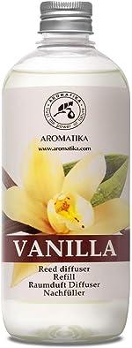 Vanilla Diffuser Refill w/Natural Essential Vanilla Oil 500ml - Intensive -