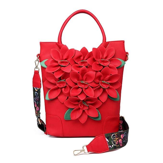 ZRQ Borse da donnaBorsa da fiori vintage ricamata in stile