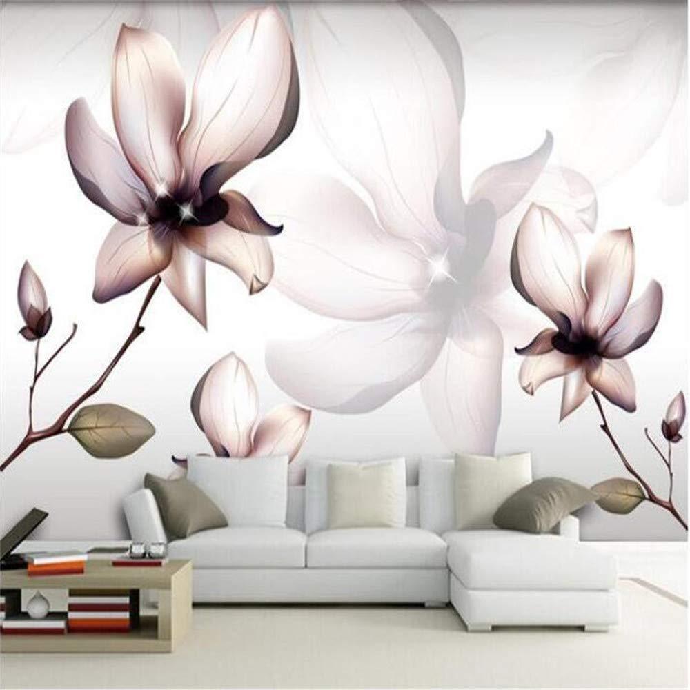 REAGONE Papel tapiz mural 3D grande HD Artística hermosa Flores abstractas, líneas geométricas Fondo Papel fotográfico de seda con foto personalizado, 200x140 cm (78.7 por 55.1 pulg.)
