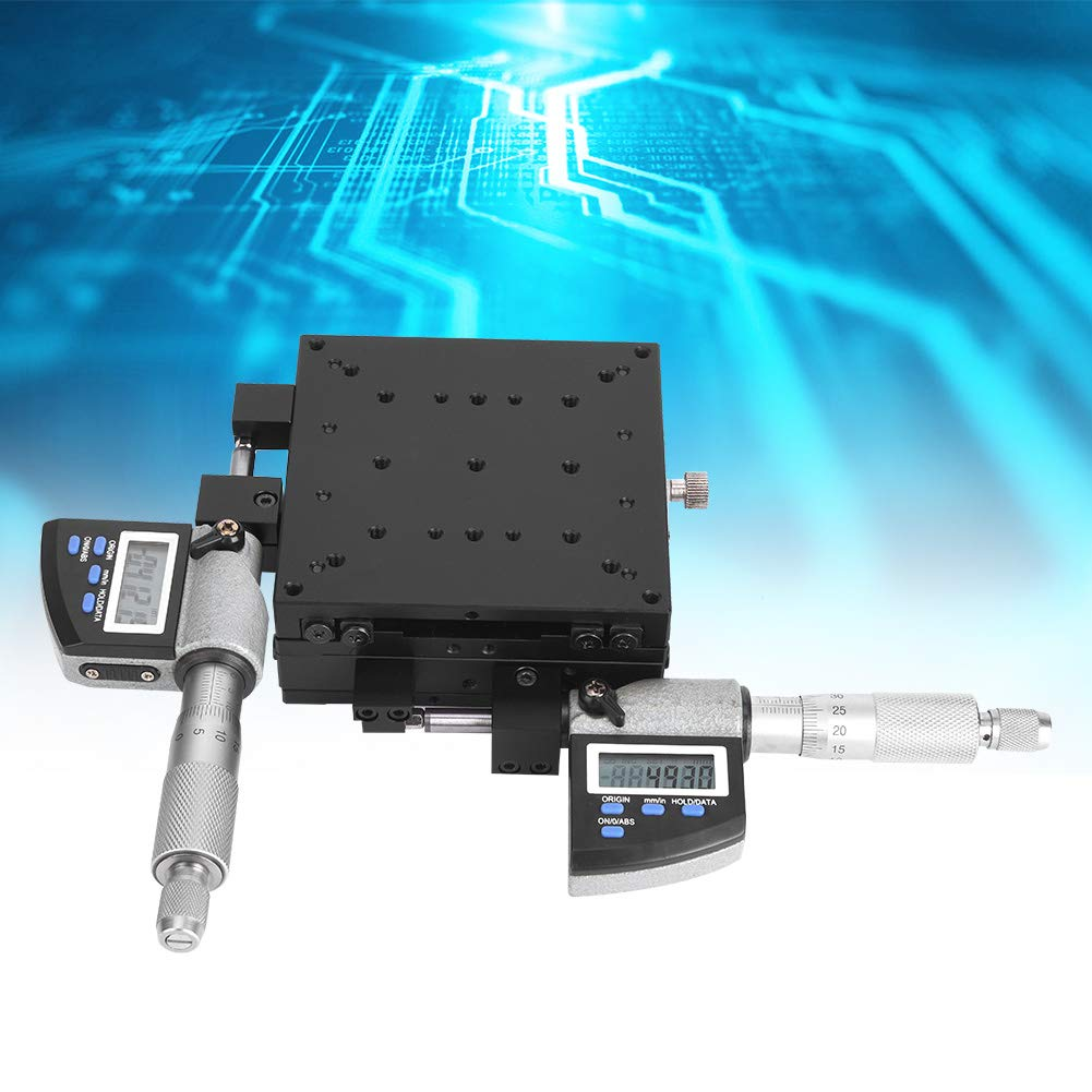 Micrometer Platform Digital Displayed 100x100mm 0.002mm Linear Stage Platform with Waterproof for Inspection Equipment