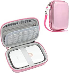 Blummy Shockproof Carrying Case Storage Travel Bag Compatible with HP Sprocket Portable Photo Printer and (2nd Edition) / Polaroid Zip Mobile Printer/Lifeprint 2x3 Portable Protective Pouch Box (Pink)