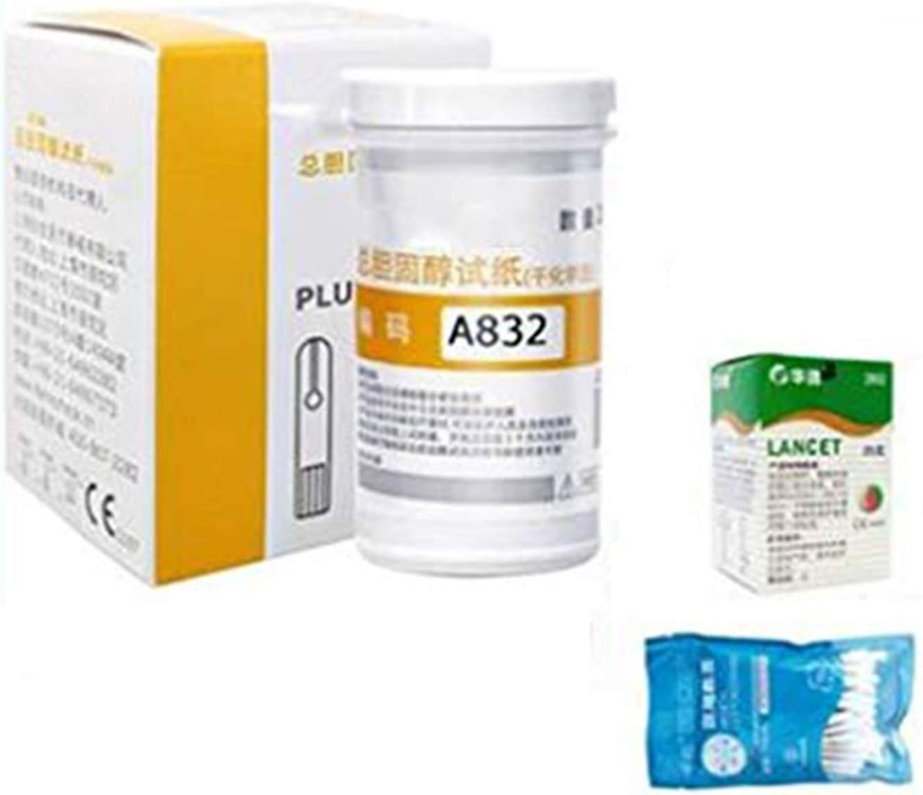 CYYYY Cholesterol Test Kit for Home, 3 in 1 Multi-Function Cholesterol,Blood Sugar,Uric Acid Test Meter,and Test Paper for Health Home Tests (Size : Cholesterol Test Paper)