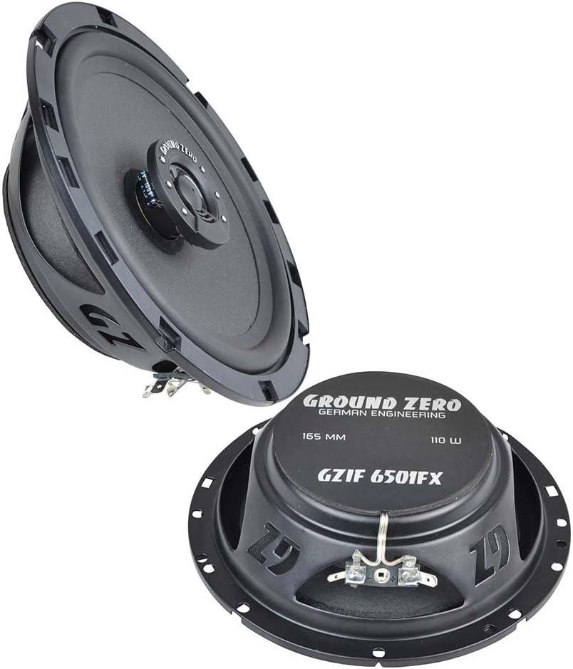 Alfa Mito Ground Zero Lautsprecher Boxen 165mm Koax Vordere T/üren oder Seiten Heckbereich ab 08