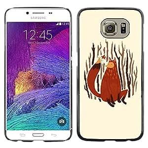 Paccase / Dura PC Caso Funda Carcasa de Protección para - Fox Art Painting Forest Nature Autumn Leaves - Samsung Galaxy S6 SM-G920