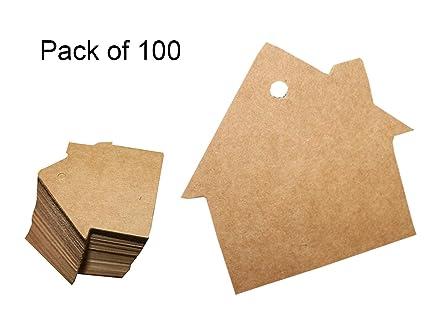 Amazon.com: 100Pcs Kraft Paper Gift Tags Wedding Party Favor ...