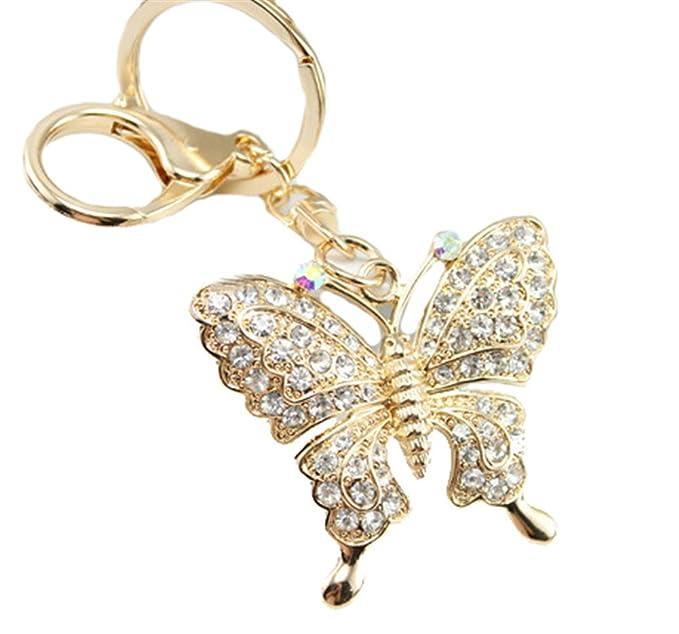 Amazon.com: Kissweet - Llavero con diseño de mariposa con ...