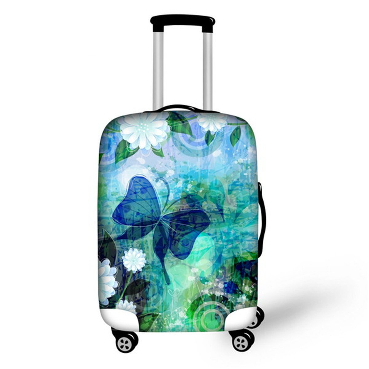 Advocator 3D Butterfly Luggage Cover Protector Spandex Suitcase Cover for Travel