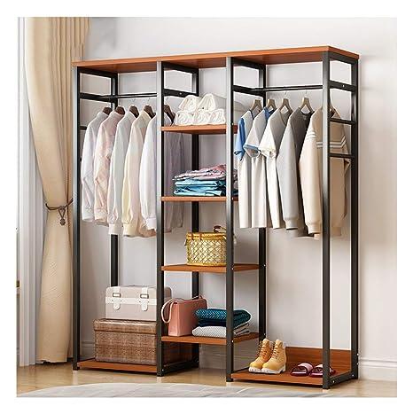 Amazon.com: WYQSZ Bedroom Clothes Rack Bamboo, Floor Simple ...
