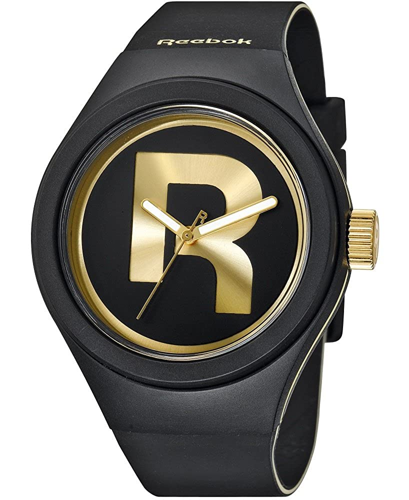 214cf8d8a9ea Amazon.com  Reebok Men s Icon Drop Rad Gent Analog Watch Black with Gold  RC-IDR-G2-PBIB-B2  REEBOK  Watches