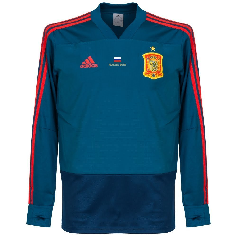 Player Print - adidas Performance Spanien Training Top - blau 2018 2019 inkl GRATIS Russland 2018 Druck