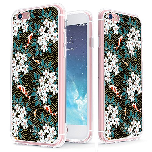 iPhone 6s Case - True Color Clear-Shield Showa Koi [Japanese Collection] Printed on Clear Back - Perfect Soft and Hard Thin Shock Absorbing Dustproof Full Protection Bumper Cover (Iphone 6 Cases Koi Fish)