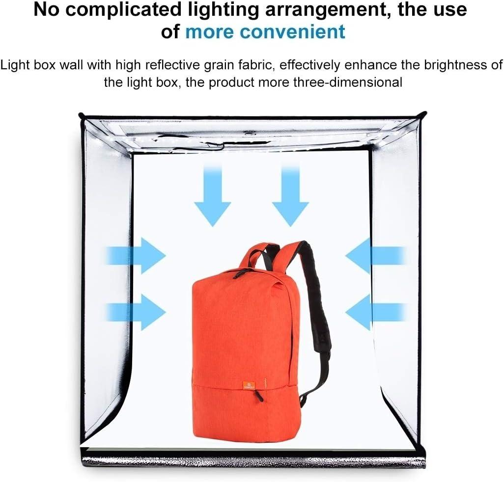 Black Orange White Green Blue Red Hyx Photo Studio Light Box Portable 60 x 60 x 60 cm Light Tent LED 5500K Mini 60W Photography Studio Tent Kit with 6 Removable Backdrop Camera Parts Accessories