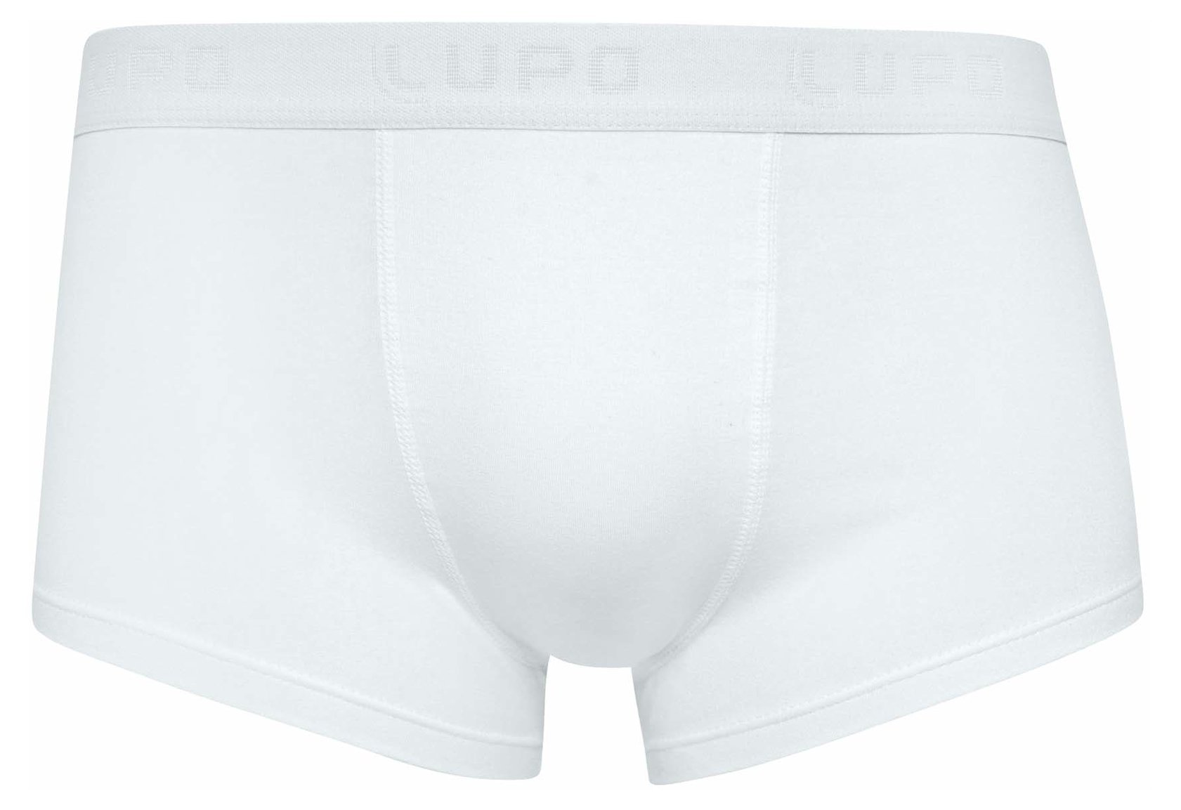 Lupo Men's Essential Stretch Cotton Low Rise Trunk Underwear (Pack of 3), White, Large by Lupo
