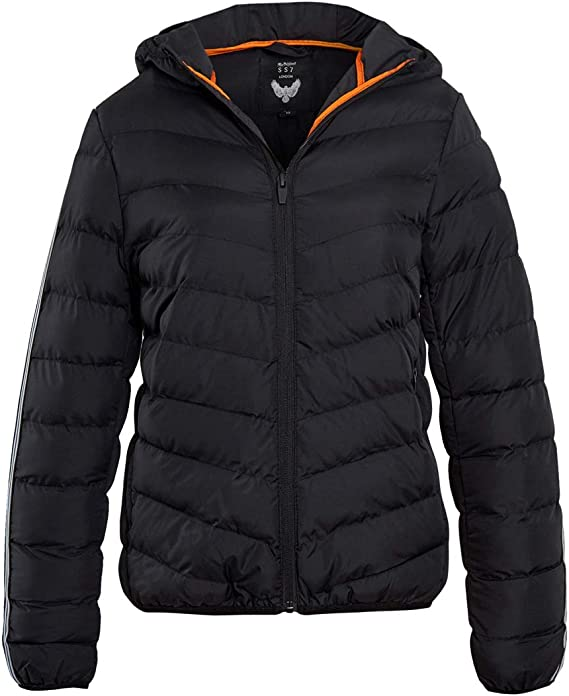 Black Ages 7 to 13 SS7 Boys Quilted Padded Coat Navy
