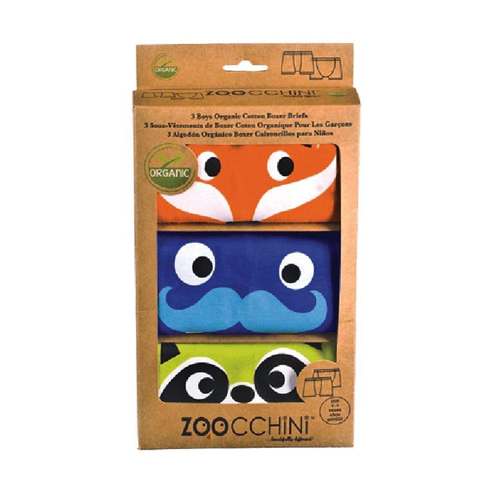 Zoocchini Set de 3 Boxers pour Garçon Orange 2-3 Ans 13100 (2-3 Years)