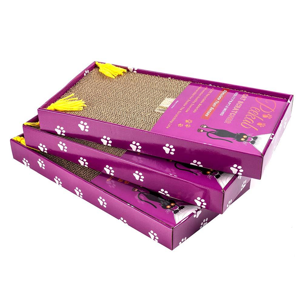 Amazon.com: PEEKAB - Rascador de cartón para gatos de ...