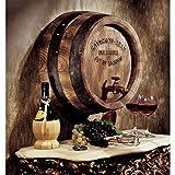 Design Toscano French Vineyard Decor Wine Barrel Wall Sculpture, 18 Inch, Full Color