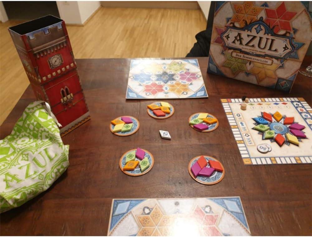 EDK Juegos de Mesa para Adultos Azul - Verano Pabellón Edición del vitral de la baldosa cerámica del Partido Juego Puzzle Juguetes Gadget - Regalos para la Familia Amigos Hombres Mujeres Niño: