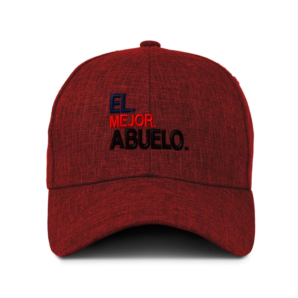 Mejor Abuelo Red Embroidery Acrylic Strap Closure Custom Baseball Cap El