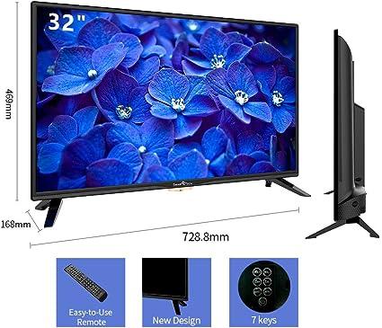 Smart-Tech SMT32Z1TS Televisor LED Listo para HD de 32 Pulgadas, Reproductor Multimedia a Través de Puerto USB y Puerto HDMI (Sintonizador Triple DVB-T/C / T2 / S / S2, Negro): Amazon.es: Electrónica