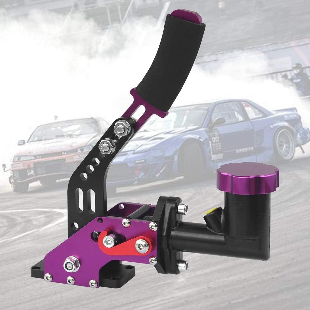 Purple Hydraulic Handbrake With Oil Tank Universal Ebrake Fit Drift Track Rally Racing Emergency Parking E-Brake Vertical/Position Adjustable Dampening Height With Anti-Slip Sponge Handle