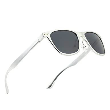 9da532c9ed2a CGID GD54 Al-Mg Alloy Frame Polarized Sunglasses UV400,Sun Glasses with  Metal Rivets for Men and Women: Amazon.co.uk: Clothing