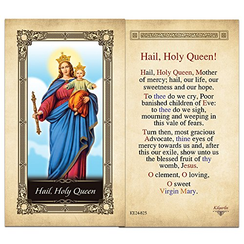 Hail, Holy Queen Laminated Holy Card