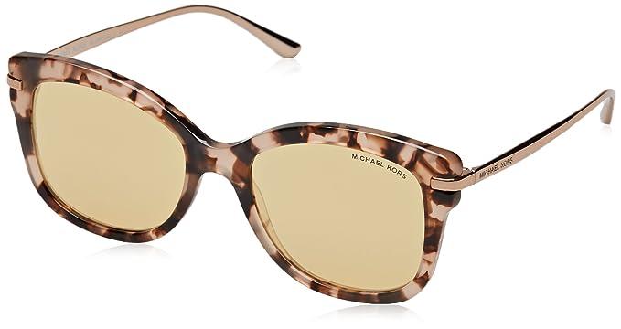 Womens Hvar 1044T5 Sunglasses, Gold Tortoise/Browngradientpolarized, 59 Michael Kors