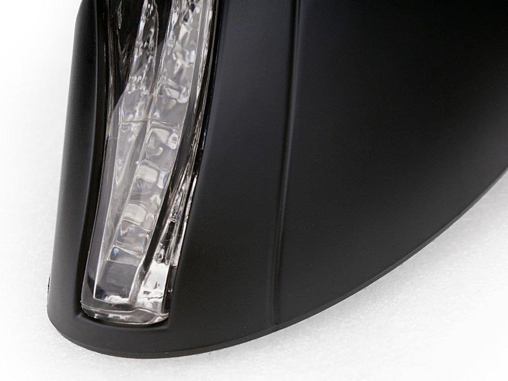 Yamaha YZF R1 R6 R6S Fazer FZR 600,Suzuki GSXR 600 750 1000 Bandit Kawasaki Ninja 500 ZX6 ZX6R Ex And more New Matt Black LED Turn Signals Integrated Mirror for Honda CBR 600 1000 RR Hurricane
