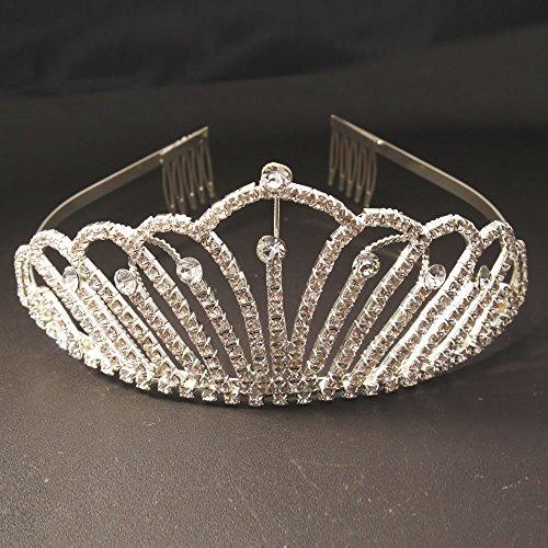 Crazy K&A Adult Ceremony Rhinestone Tiara Crystal Crown Headband n Headband (Crystal Queen Costume)