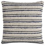 Rizzy Home Throw Pillow, 20'' x 20'', Blue/Ivory