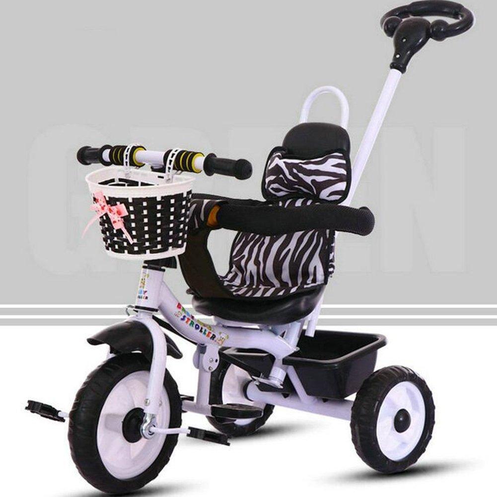 XQ 子供 軽量 EVA発泡ホイール 三輪車 1-3-5歳 赤ちゃん トロリー 子ども用自転車 ( 色 : ブラック ) B07CG5JXJGブラック