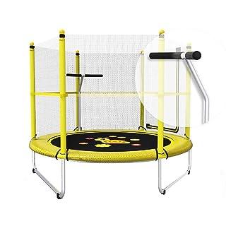Trampolini Esercizio Fitness, Coperta 150 Centimetri Adulti Bambini Rimbalzo Letto con Rete di Sicurezza Recinzione, Altezza 120 Cm, capacità Portante 150 kg