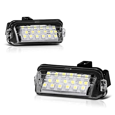 VIPMOTOZ Full LED License Plate Light Lamp Assembly Replacement For Toyota Camry Highlander Avalon Yaris Prius C - 6000K Diamond White, 2-Pieces: Automotive