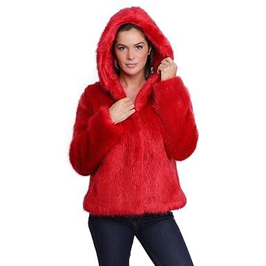 prix plus bas avec brillance des couleurs les clients d'abord Oakwood Veste capuche fausse fourrure femme Electro 62407 ...
