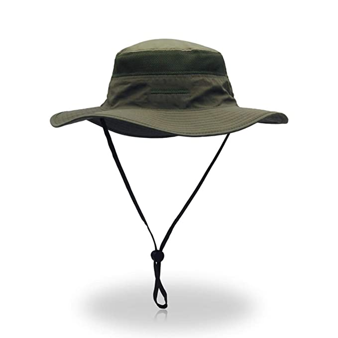 e6ab1469cd1 Camouflage Boonie Bucket Hats Camo Fisherman Hats with Wide Brim Sun  Fishing Bucket Hat Breathable Mesh