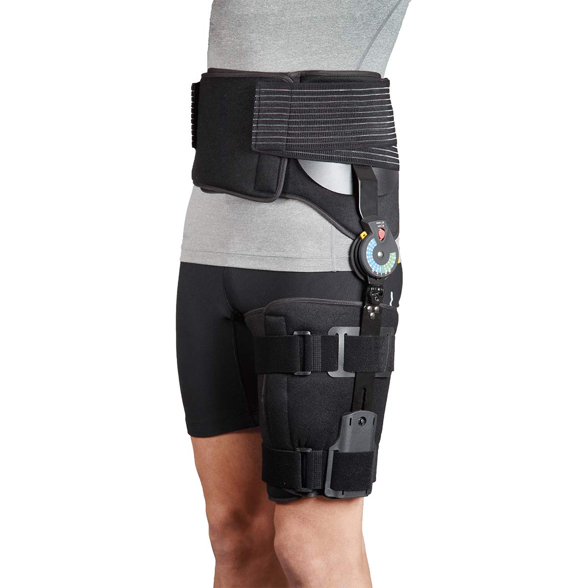 Orthomen ROM Post Op Hip Abduction Brace for Hip Replacement Surgery, Recovery and Rehab(Left)