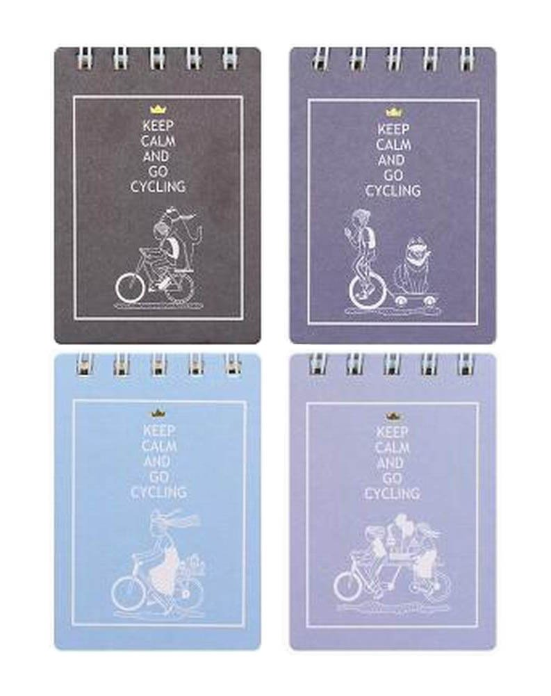 [P] Set of 4 Wirebound Steno Notebooks Notepads Pocket Notebooks by Black Temptation (Image #1)