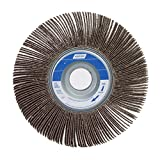 Norton Metalite R265 Abrasive Flap Wheel, 1'' Arbor, Round Hole, Aluminum Oxide, 6'' Dia., 3'' Face Width, Grit 80, 6200 Max RPM (Pack of 1)