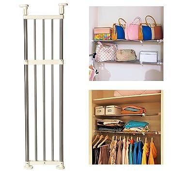 Baoyouni Expandable Shelves Rust Proof Space Saver Closet Shelf Closet  Organizer Rack 33u0027u0027