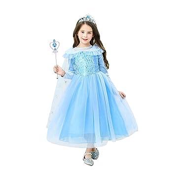 URAQT Disfraz de Princesa Elsa/Capa Disfraces/Belle Vestido y ...