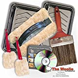 NEW 2017 OFFICIAL FAUX PAINTING KIT BY THE WOOLIE WITH BONUS ITEMS! (2 Little Woolies, 2 Tool Parking Trays & DVD)